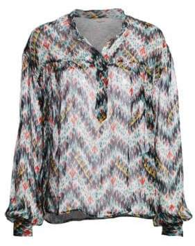 Etoile Isabel Marant Emana Printed Silk Blouse