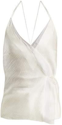Roksanda Lymer silk-satin seersucker cami top