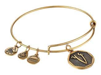 Alex and Ani Initial V Charm Bangle Bracelet