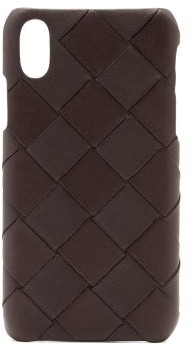 Bottega Veneta Intrecciato Leather Iphone Xs Case - Womens - Brown