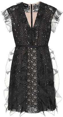 Giambattista Valli Silk and lace minidress