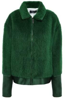Piazza Sempione Satin-trimmed Alpaca And Wool-blend Jacket