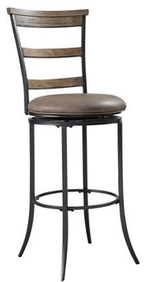 "Hillsdale Furniture Charleston 42"" Ladder Back Swivel Counter Stool, Desert Tan Finish"