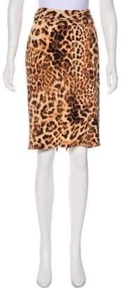Norma Kamali Animal Print Pencil Skirt