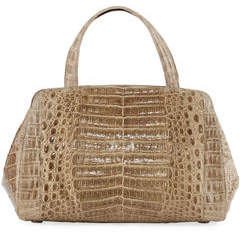 Nancy Gonzalez Crocodile Small Satchel Bag