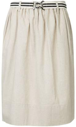 Bassike belted draped midi skirt
