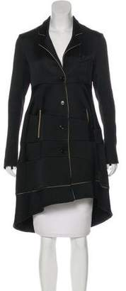 Saint Laurent Silk Knee-Length Coat