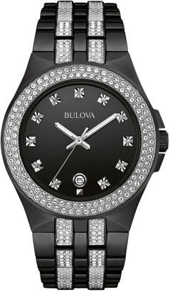 Bulova Men's Crystal Stainless Steel Watch - 98B251
