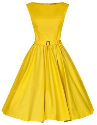 Tecrio Classy Audrey Hepburn Style 1950's Sleeveless Vintage Dresses
