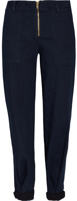 Band Of Outsiders Cotton-twill tapered pants