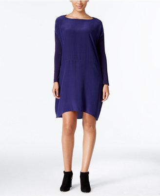 Eileen Fisher Silk High-Low Shift Dress $308 thestylecure.com