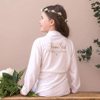 Sparks And Daughters Personalised Wedding Dressing Gown For A Flower Girl