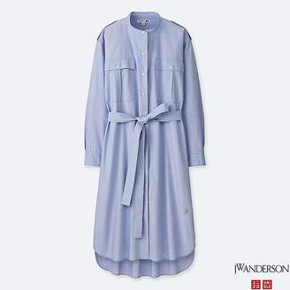 Uniqlo Women's Jwa Extra Fine Cotton Long-sleeve Shirt Dress
