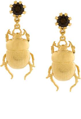 Alex Monroe beetle earrings