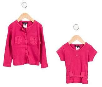Lili Gaufrette Girls' Knit Cardigan Set