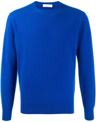 Cruciani crew neck ribbed knit sweater