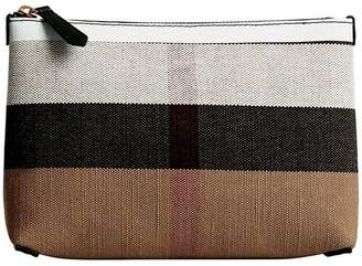 Burberry medium check zip pouch