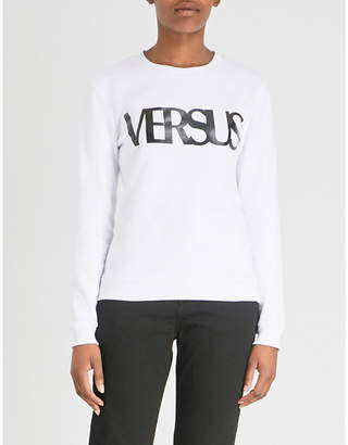 Versace Logo-detail cotton-jersey sweatshirt