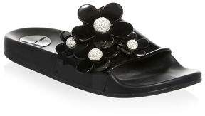 Marc Jacobs Daisy Floral Embellished Sandals