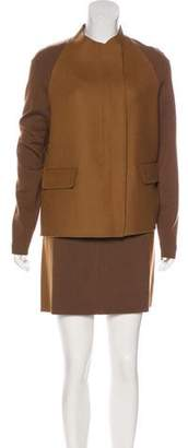 M.PATMOS Two-Tone Wool Skirt Suit