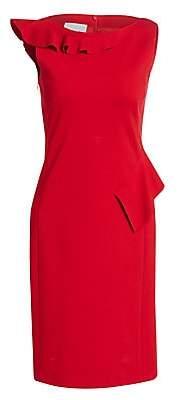 Akris Punto Women's Hanging Ruffle Jersey Shift Dress