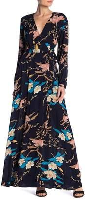 AAKAA Floral Wrap Maxi Dress