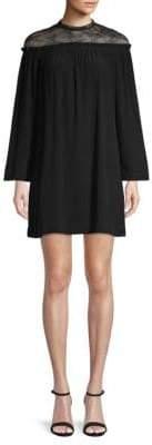 Sandro Nora Lace Yoke Shift Dress