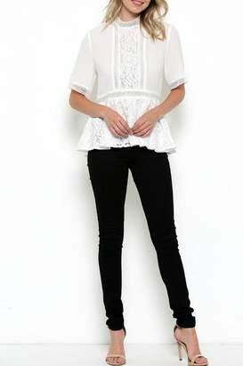 Elegance By Sarah Ruhs Chiffon Lace Blouse