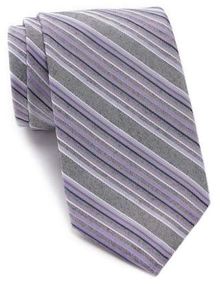 Calvin Klein Denim Multi-Stripe Tie