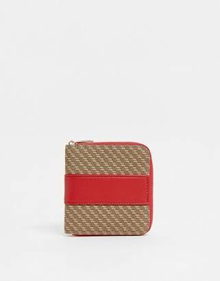 Asos Design DESIGN monogram ladies' wallet with contrast detail