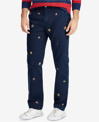 Polo Ralph Lauren Men's Classic Fit Embroidered Cotton Chino Pants