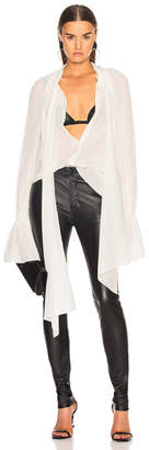 Thierry Mugler Tie Neck Blouse