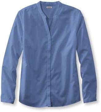 L.L. Bean L.L.Bean Wrinkle-Free Pinpoint Oxford Shirt, Long-Sleeve Splitneck