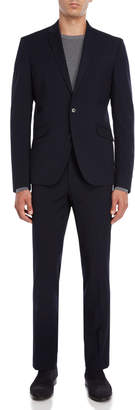 Kenneth Cole Reaction Two-Piece Navy Grid Suit