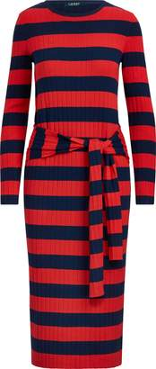 Ralph Lauren Striped Tie-Waist Dress