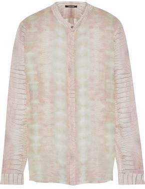 Roberto Cavalli Snake-Print Silk-Georgette Shirt