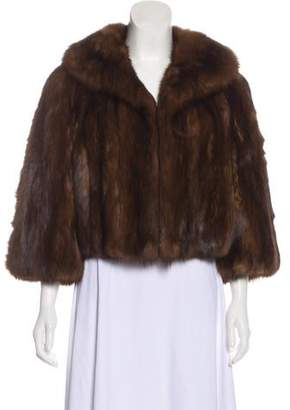 Neiman Marcus Cropped Sable Jacket