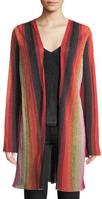 M Missoni Metallic-Stripe Long-Sleeve Cardigan