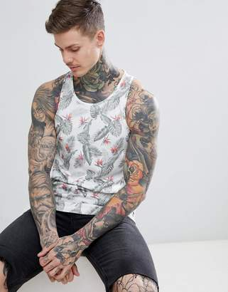 Jack and Jones Originals Tank In All Over Floral Print