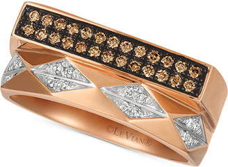 LeVian Le Vian Chocolatier Diamond Contemporary Ring (1/5 ct. t.w.) in 14k Rose Gold