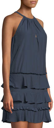 Ramy Brook Leomi Sleeveless Tiered Dress