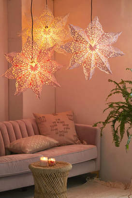 Lacy Cutout Star Paper Lantern