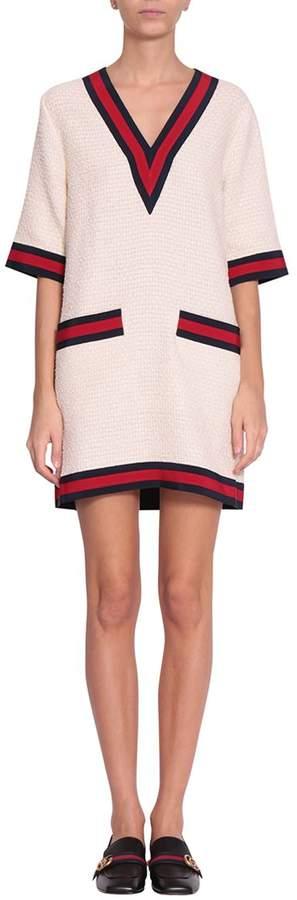 Gucci Web Tweed Dress