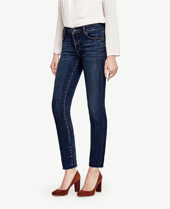 Ann TaylorPetite Raw Edge Crop Jeans