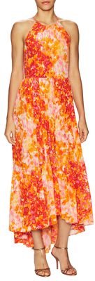 Printed Maxi Halter Dress $548 thestylecure.com