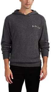 RtA MEN'S EMBROIDERED CASHMERE HOODIE - GRAY SIZE M