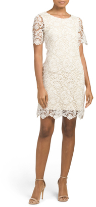 Short Sleeve All Over Lace Dress $29.99 thestylecure.com