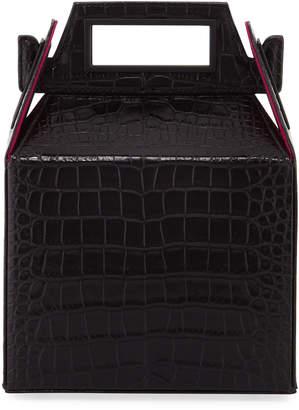 Pop & Suki Stamped Croc Takeout Top Handle Bag Black