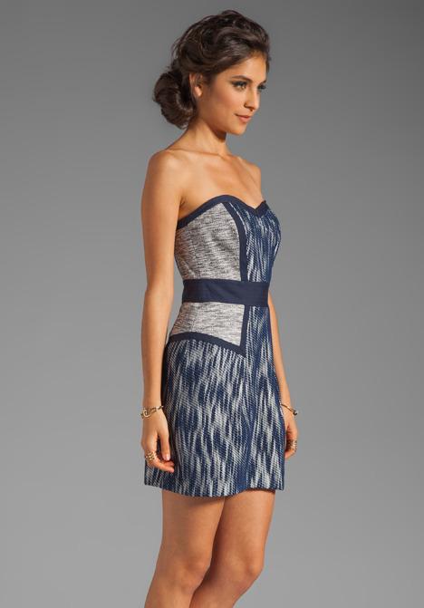 Milly Ikat Jacquard Dianna Sweetheart Dress