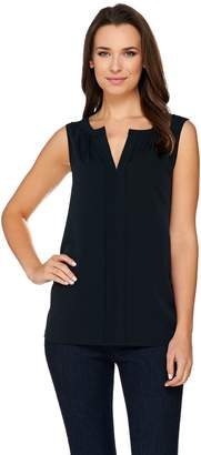 C. Wonder Sleeveless Catrina Blouse with Split V-neckline
